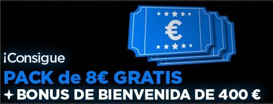 Registrate para jugar poker en la sala 888poker y recibe tu bono de 400 euros